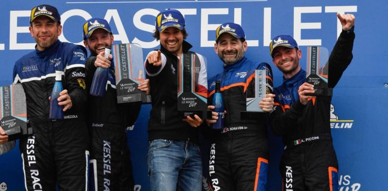Andrea Piccini and Claudio Schiavoni gets the podium in the inaugural Michelin Le Mans Cup race