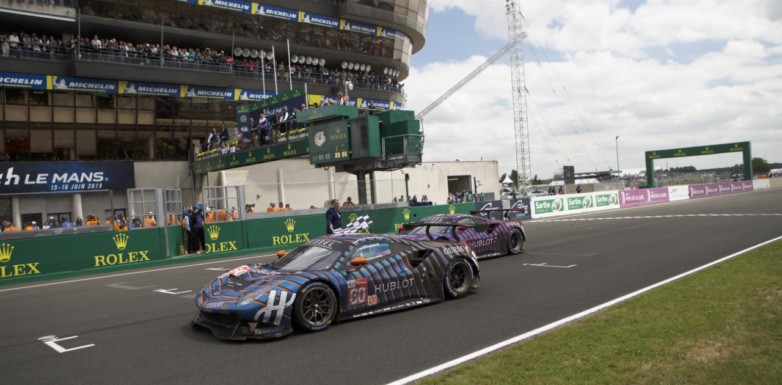 Andrea Piccini, Claudio Schiavoni and Sergio Pianezzola end the Le Mans 24 Hours in 13th place